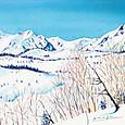 雪の白馬連峰