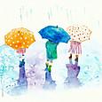 雨の日の子供達