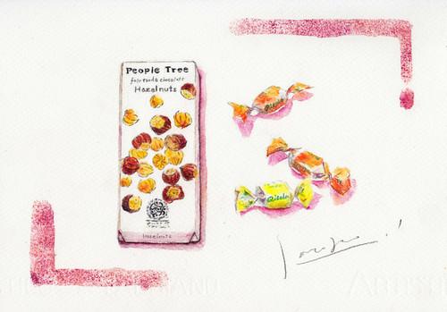 板チョコとキャンディ