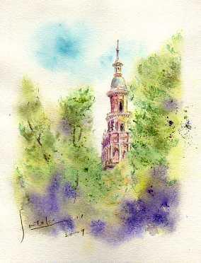 セビリア スペイン広場の塔