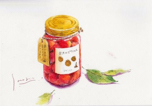 プチトマトのピクルスとローリエ